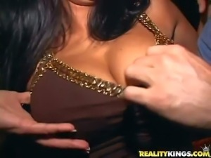 Experienced dirty stud Sergio takes advantage on drunk bitches Kendra,