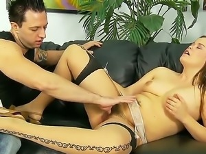 Appetizing Kaci Starr enjoys to start hardcore fucking with sweet pussy...