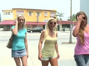 Three sexy blonde prostitutes Kaylee Hilton, Mercedes Lynn and Whitney Taylor...
