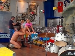 Threesome fuck with friend named Bernice, Denni and Rocco Siffredi