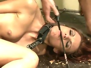 Wild and hardcore BDSM scene with a horny slut named Christine Wild