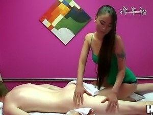 Asian slut Jade Hsu gives more than massage to horny male Jake Taylor