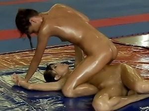 Look at amazing and dirty lesbian bitches Doris Ivy and Sophie Lynx in fight...