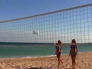 Gorgeous pornstars posing at the beach, featuring Eva Ellington, Jamie Lynn,...