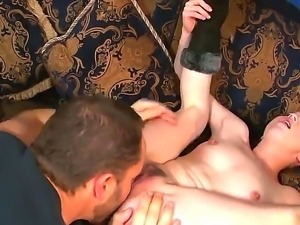 Teen with small tits Jessi Palmer is having a great time sucking and fucking...