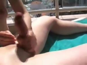 Handjob and cumshot compilation