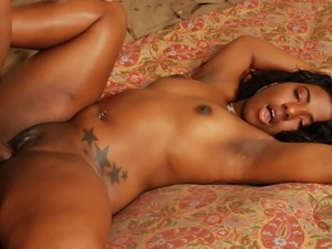 Stunning ebony girl India fucked real deep