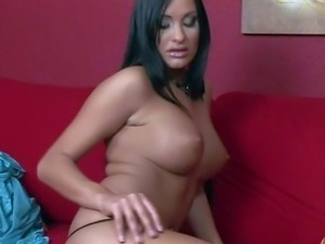 Glamorous babe Claudia Capri with black hair and big boobs