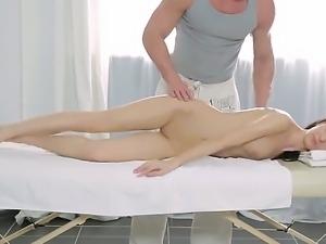 Skinny hottie Vilia enjoys having huge cock pleasing her desires in naughty...