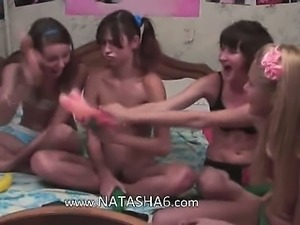 Four french teens in live show