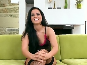 Amazing and nice interview with a gorgeous brunette bitch Bettina DiCapri