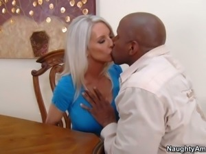Emma Starr is a gorgeous white haired milf with amazing