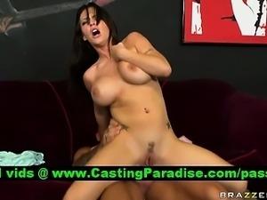 Jenna Presley busty brunette riding huge cock