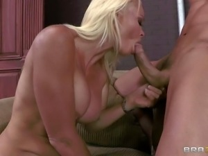 Gorgeous busty milf Rhylee Richards is a sexpert that loves to fuck. White...