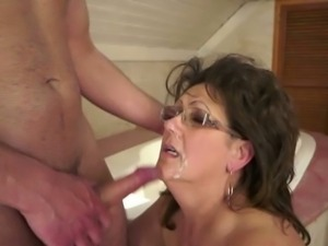 Bbw mature fucked by young boy
