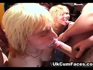 British wives hunger for warm cum