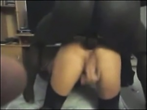 Wife receive a deep anal with bbc