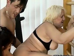 Dirty blonde and brunette slut get horny