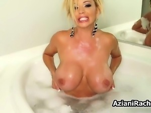 busty blonde babe gets horny rubbing her part5