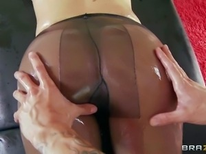 Attractive heavy chested blonde bombshell Black Rose with delicious ass and...