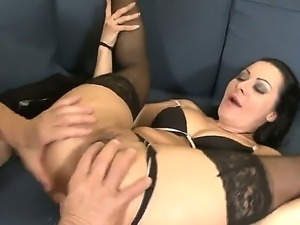 Mature Christoph Clark is pounding Sandra Romains anal tunnel ferociusly