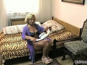 two sexy lesbians have fun on the bed