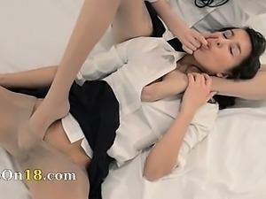 Unbeleivable lesb nylon love strapon
