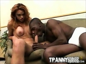 Interracial Tranny Slut Oral Sex