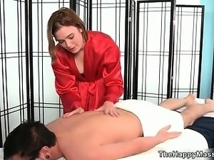 Horny brunette babe from Massage-Parlor