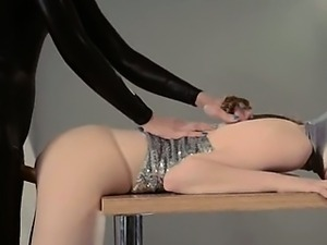 elegant strapon lesbians in mask playing