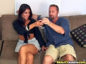 Shes one super sexy MILF with raven hair and adorable body. She gets naked in...