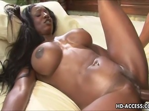 This ebony babe is blessed with a stunning pair of big tits. They are...