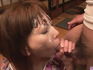 Minami Kitagawas foursome ends in an asian cum facial