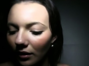 Brunette babe from streets fucked indoor
