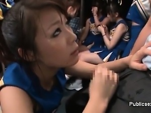 Horny asian cheerleader is horny on the part2