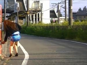 Asian Crossdresser Pantyhose Public Exhibitionism Upskirt