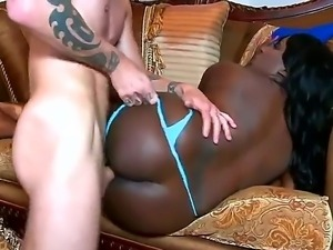 Cheep full figured black bitch Luxury Amore with long pink nails and gigantic...
