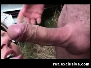 Outdoor Rimjob and Facial French Couple