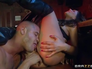 Smoking hot brunette goddess Destiny Dixon with perfect firm ass gets licked...