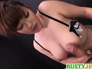 Big Breasted MILF Rin Yunoki Sucks Him And Tit Fucks Him
