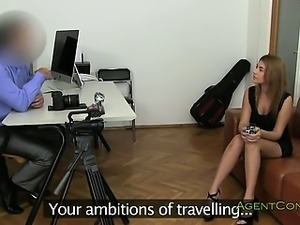 Amateur anally fucked on casting