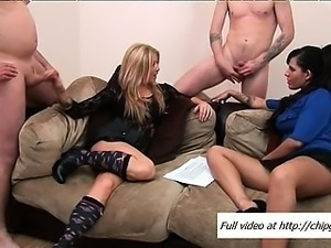 Mature women jerking shafts and guys shoot spunk