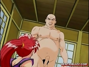 Bondage hentai 69 style oral sex and cumshot