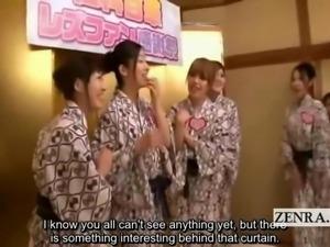 Subtitled Japanese lesbians bizarre group eating orgy