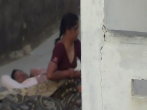 Indian Aunty sleep in terrace free