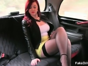 Awesome redhead is seduced by fake taxi part6