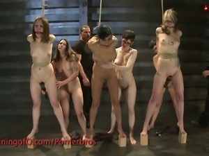 Five naked girls bdsm punishment