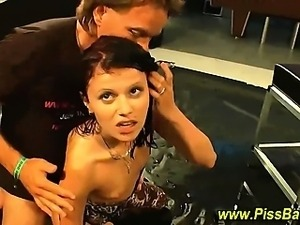 Nasty fetish whore gets soaked