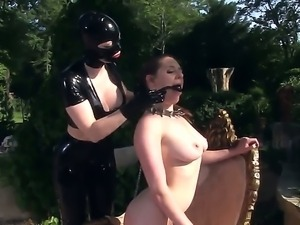 Nasty Latex Lucy with huge tits and big ass in kinky outfit and stripper...