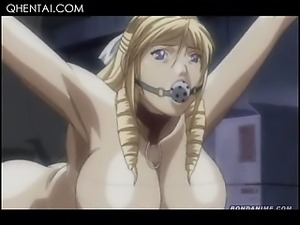 Hardcore hentai gangbang with hottie sucking dicks in a row